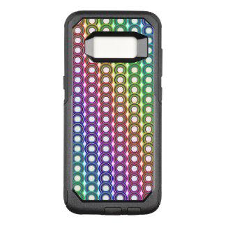 Capa OtterBox Commuter Para Samsung Galaxy S8 Círculos retros coloridos
