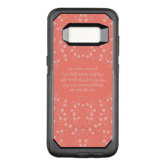 Capa OtterBox Commuter Para Samsung Galaxy S8 Citações florais da carta de amor de Jane Austen