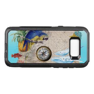 Capa OtterBox Commuter Para Samsung Galaxy S8+ Colagem azul tropical
