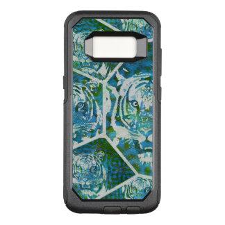 Capa OtterBox Commuter Para Samsung Galaxy S8 Colagem do tigre do verde azul