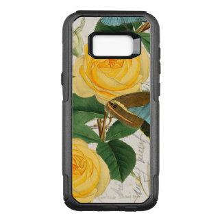 Capa OtterBox Commuter Para Samsung Galaxy S8+ Colagem dos rosas amarelos