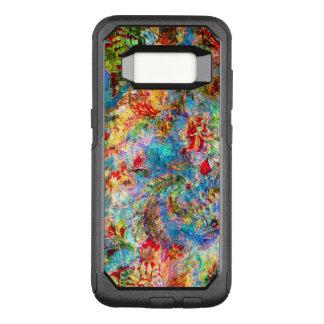 Capa OtterBox Commuter Para Samsung Galaxy S8 Colagem floral do vintage abstrato colorido