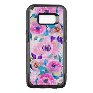 Capa OtterBox Commuter Para Samsung Galaxy S8+ Colagem na moda das flores das aguarelas