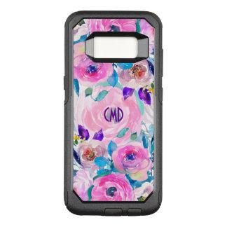 Capa OtterBox Commuter Para Samsung Galaxy S8 Colagem na moda moderna das flores das aguarelas
