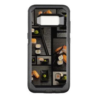 Capa OtterBox Commuter Para Samsung Galaxy S8 Coleção do sushi no fundo preto
