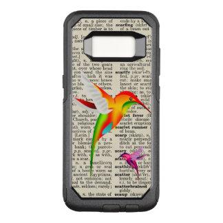 Capa OtterBox Commuter Para Samsung Galaxy S8 Colibris coloridos na página do dicionário do