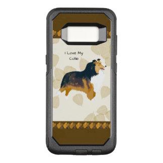 Capa OtterBox Commuter Para Samsung Galaxy S8 Collie nas folhas de Tan