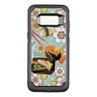 Capa OtterBox Commuter Para Samsung Galaxy S8 Comida japonesa: Teste padrão 4 do sushi