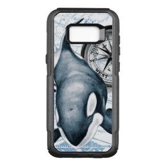 Capa OtterBox Commuter Para Samsung Galaxy S8+ Compasso da baleia da orca