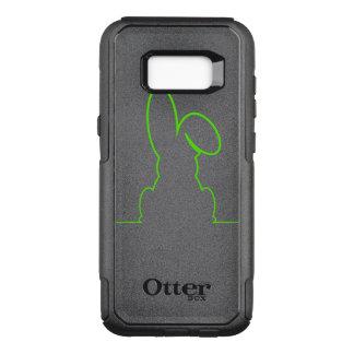 Capa OtterBox Commuter Para Samsung Galaxy S8+ Contorno de uma luz da lebre - verde