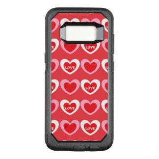 Capa OtterBox Commuter Para Samsung Galaxy S8 Corações brancos e cor-de-rosa