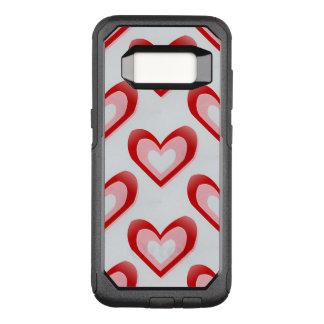 Capa OtterBox Commuter Para Samsung Galaxy S8 Corações dentro de um teste padrão do coração