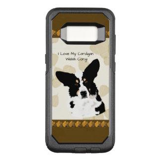 Capa OtterBox Commuter Para Samsung Galaxy S8 Corgi de Galês do casaco de lã nas folhas de Tan