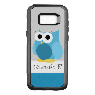 Capa OtterBox Commuter Para Samsung Galaxy S8+ Coruja azul engraçada galáxia personalizada S8 de