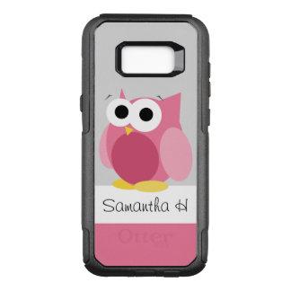 Capa OtterBox Commuter Para Samsung Galaxy S8+ Coruja cor-de-rosa engraçada galáxia personalizada