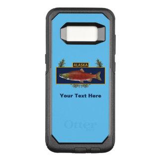Capa OtterBox Commuter Para Samsung Galaxy S8 Crachá do pescador do combate de Alaska