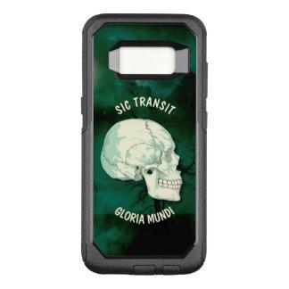 Capa OtterBox Commuter Para Samsung Galaxy S8 Crânio de turquesa do vintage de Gloria Mundi do