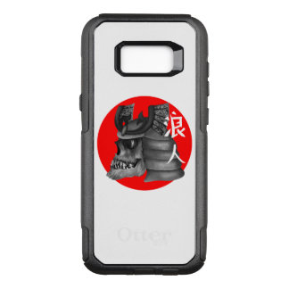 Capa OtterBox Commuter Para Samsung Galaxy S8+ Crânio japonês da bandeira do samurai de Ronin