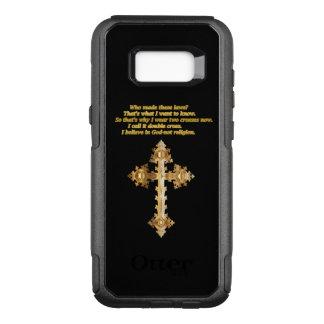 Capa OtterBox Commuter Para Samsung Galaxy S8+ Cruz cristã do divertimento do ouro com provérbio
