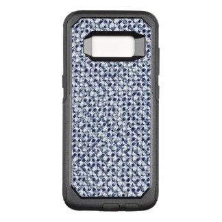Capa OtterBox Commuter Para Samsung Galaxy S8 De matéria têxtil azul da verificação de Itajime