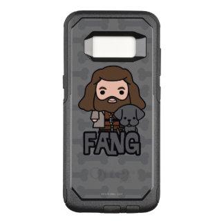 Capa OtterBox Commuter Para Samsung Galaxy S8 Desenhos animados Hagrid e arte do caráter do