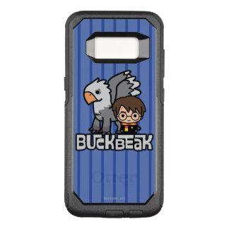 Capa OtterBox Commuter Para Samsung Galaxy S8 Desenhos animados Harry Potter e Buckbeak