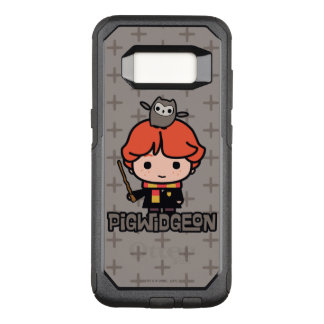 Capa OtterBox Commuter Para Samsung Galaxy S8 Desenhos animados Ron Weasley e Pigwidgeon