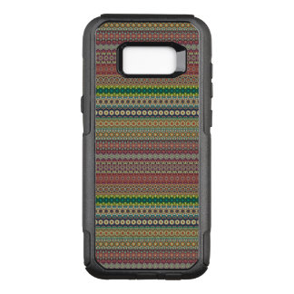 Capa OtterBox Commuter Para Samsung Galaxy S8+ Design abstrato listrado tribal do teste padrão
