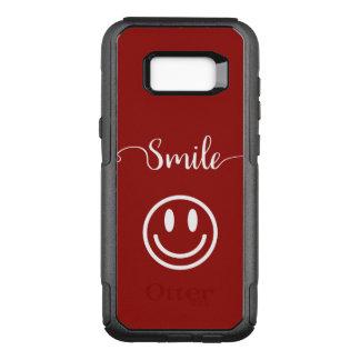 Capa OtterBox Commuter Para Samsung Galaxy S8+ Design bonito da cara do sorriso