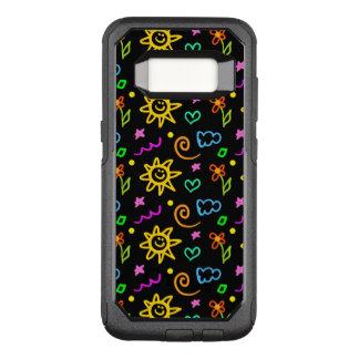 Capa OtterBox Commuter Para Samsung Galaxy S8 Design colorido do fundo para miúdos