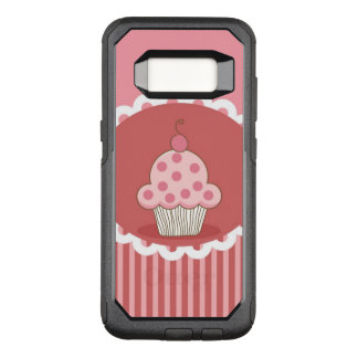 Capa OtterBox Commuter Para Samsung Galaxy S8 Design cor-de-rosa do cupcake
