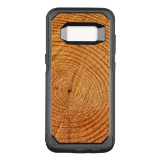 Capa OtterBox Commuter Para Samsung Galaxy S8 Design de madeira falsificado da natureza do olhar
