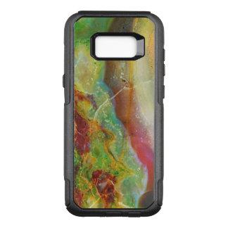Capa OtterBox Commuter Para Samsung Galaxy S8+ Design de mármore abstrato colorido 3 dos