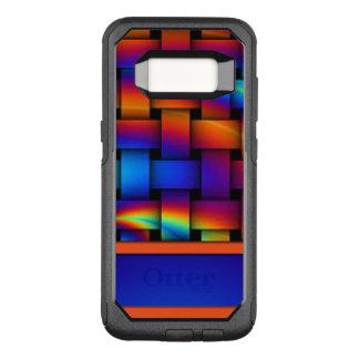 Capa OtterBox Commuter Para Samsung Galaxy S8 Design do teste padrão de Weave de cesta