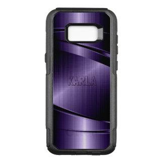 Capa OtterBox Commuter Para Samsung Galaxy S8+ Design geométrico moderno roxo metálico