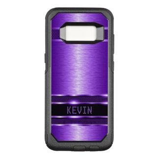 Capa OtterBox Commuter Para Samsung Galaxy S8 Design moderno da textura metálica roxa brilhante