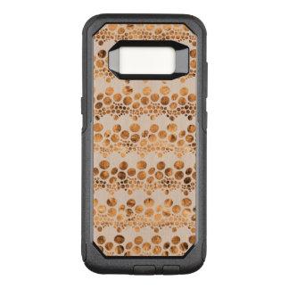 Capa OtterBox Commuter Para Samsung Galaxy S8 Design moderno GR4 do ouro & das listras bege do
