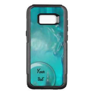 Capa OtterBox Commuter Para Samsung Galaxy S8+ Design plástico líquido azul 1264 da cerceta legal