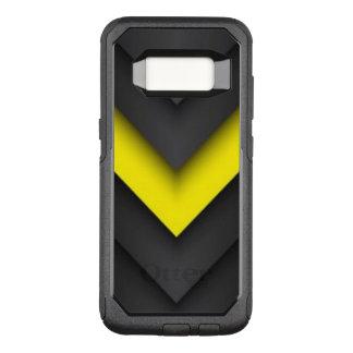 Capa OtterBox Commuter Para Samsung Galaxy S8 Design preto & amarelo do teste padrão de Chevron