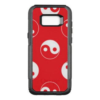 Capa OtterBox Commuter Para Samsung Galaxy S8+ Design vermelho & branco do teste padrão de Yin