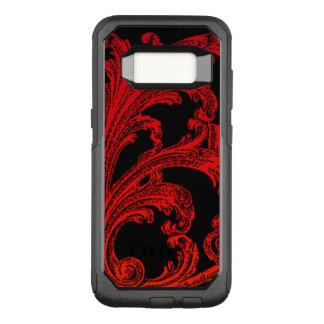 Capa OtterBox Commuter Para Samsung Galaxy S8 Design vermelho de Ombre do redemoinho original do