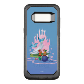 Capa OtterBox Commuter Para Samsung Galaxy S8 Deslizador e ratos de vidro de Cinderella |