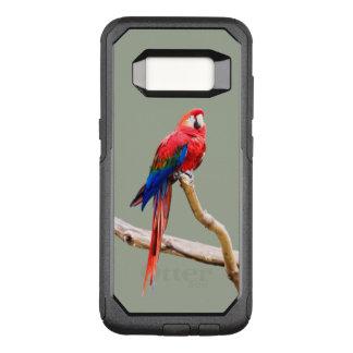 Capa OtterBox Commuter Para Samsung Galaxy S8 Do Macaw escarlate da capa de telefone de Otterbox