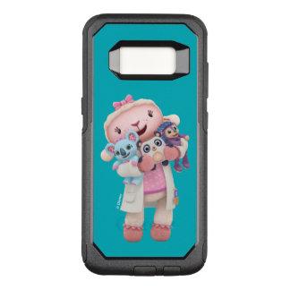 Capa OtterBox Commuter Para Samsung Galaxy S8 Doc McStuffins | Lambie - abraços dados aqui