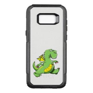 Capa OtterBox Commuter Para Samsung Galaxy S8+ Dragão verde dos desenhos animados que anda em