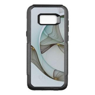 Capa OtterBox Commuter Para Samsung Galaxy S8+ Elegância moderna abstrata do ouro de Brown de