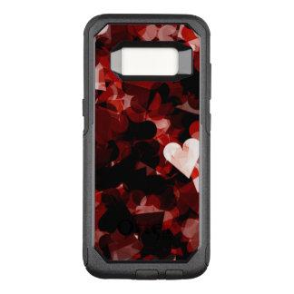 Capa OtterBox Commuter Para Samsung Galaxy S8 Emoção vermelha dos corações do amor verdadeiro