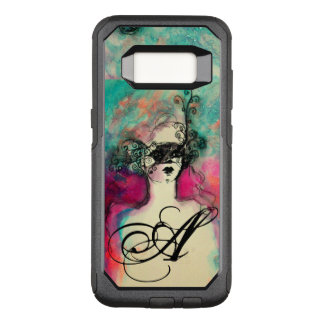 Capa OtterBox Commuter Para Samsung Galaxy S8 ENCANTE /Lady com verde da cerceta do rosa do