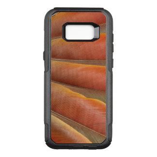Capa OtterBox Commuter Para Samsung Galaxy S8+ Escarlate das penas Vermelho-Alaranjadas do Macaw
