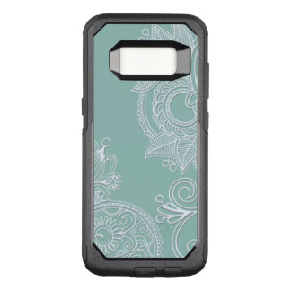 Capa OtterBox Commuter Para Samsung Galaxy S8 Estilo gravado hortelã Boho
